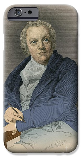 Painter Print Photographs iPhone Cases - William Blake, English Poet And Painter iPhone Case by Photo Researchers