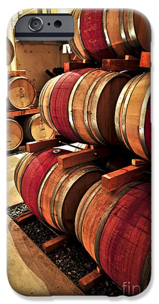 Cellar iPhone Cases - Wine barrels iPhone Case by Elena Elisseeva