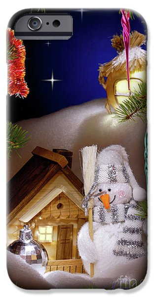 Christmas Holiday Scenery iPhone Cases - Wonderful Christmas Still Life iPhone Case by Oleksiy Maksymenko