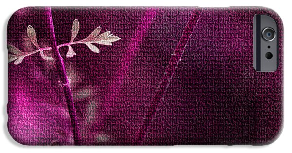 Flora Mixed Media iPhone Cases - Wonderment iPhone Case by Bonnie Bruno