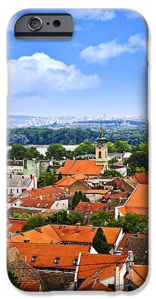 Zemun rooftops in Belgrade iPhone Case by Elena Elisseeva