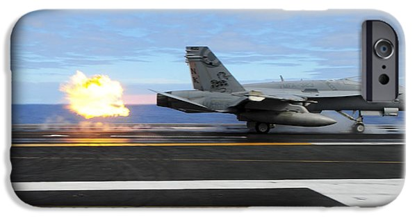 Flight iPhone Cases - An Fa-18c Hornet Launches iPhone Case by Stocktrek Images