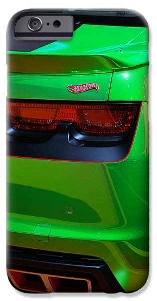 Racetrack Digital Art iPhone Cases - 2012 Hot Wheels Chevrolet Camaro Concept iPhone Case by Gordon Dean II