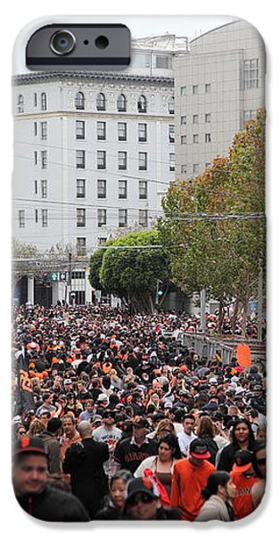 2012 San Francisco Giants World Series Champions Parade Crowd - DPP0001 iPhone Case by Wingsdomain Art and Photography