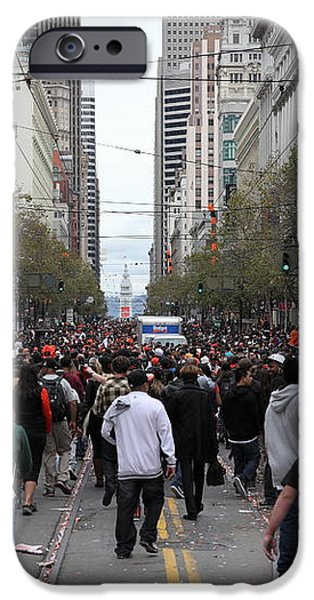 2012 San Francisco Giants World Series Champions Parade Crowd - DPP0002 iPhone Case by Wingsdomain Art and Photography