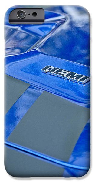 Hemi iPhone Cases - 2013 Dodge RT Hemi Emblem iPhone Case by Jill Reger