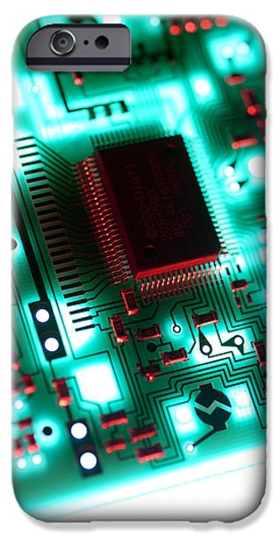 Electronic iPhone Cases - Circuit Board iPhone Case by Tek Image