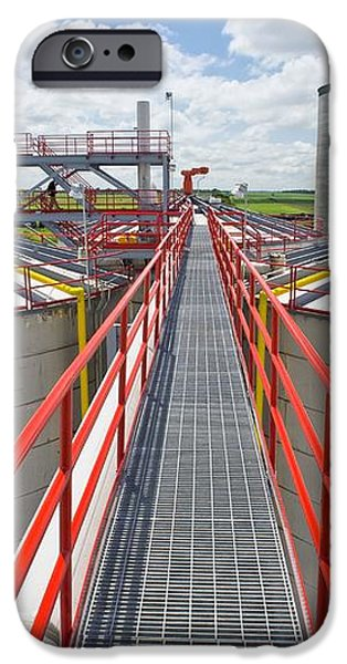 Corn Ethanol Processing Plant iPhone Case by David Nunuk