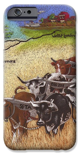 25th Anniversary Santa Fe Trail Association iPhone Case by Tracy L Teeter