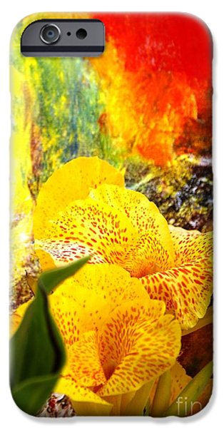 FLOWERS AND ART iPhone Case by Geegee W