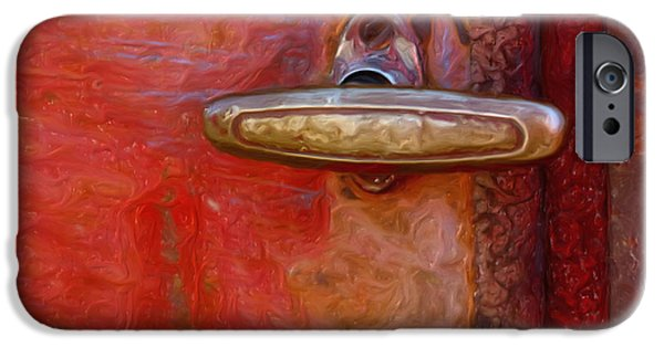 Vintage Painter iPhone Cases - 29 International Truck Handle iPhone Case by Jack Zulli