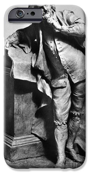 Statue Portrait iPhone Cases - William Shakespeare iPhone Case by Granger