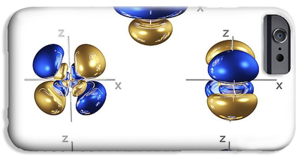 Electron Orbital iPhone Cases - 5d Electron Orbitals iPhone Case by Dr Mark J. Winter