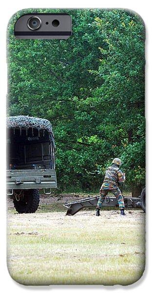 A Belgian Artillery Unit Setting iPhone Case by Luc De Jaeger