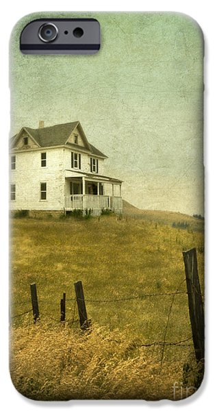 Home Improvement iPhone Cases - Abandoned Farmhouse iPhone Case by Jill Battaglia