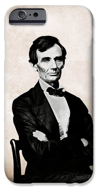 Abraham Lincoln, 16th American President iPhone Case by Photo Researchers
