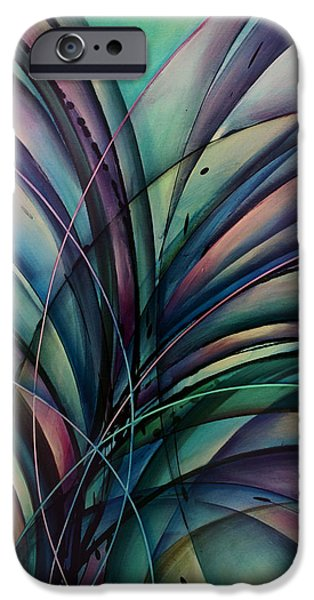 Abstract Movement iPhone Cases - Abstract Design iPhone Case by Michael Lang