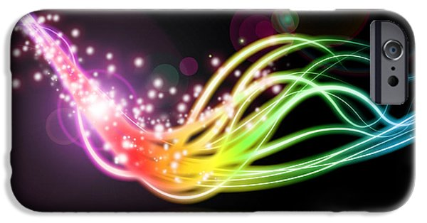 Sparks iPhone Cases - Abstract Lighting Effect  iPhone Case by Setsiri Silapasuwanchai