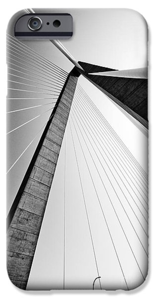 Cable iPhone Cases - Arthur Ravenel Jr Bridge Charleston SC Cooper River iPhone Case by Dustin K Ryan