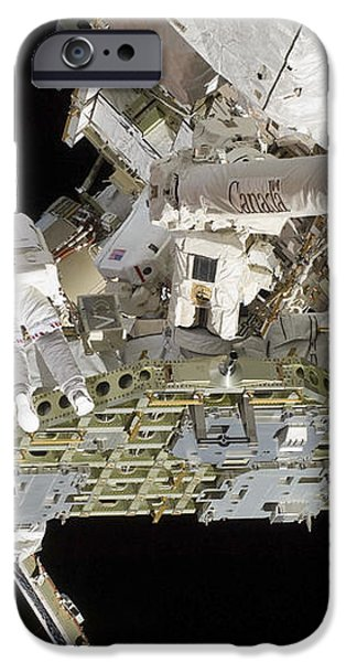 Astronauts Working On The International iPhone Case by Stocktrek Images