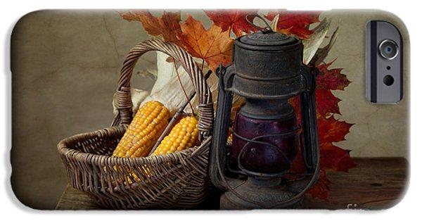 Corn iPhone Cases - Autumn iPhone Case by Nailia Schwarz