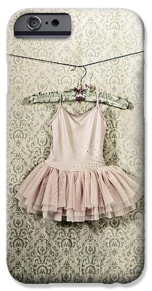 Coat Hanger iPhone Cases - Ballet Dress iPhone Case by Joana Kruse