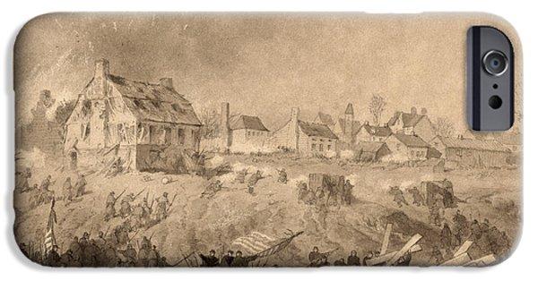 Flag iPhone Cases - Battle Of Fredericksburg iPhone Case by Granger