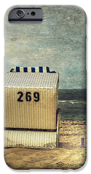 Beach Chair iPhone Cases - Beach Chair iPhone Case by Joana Kruse