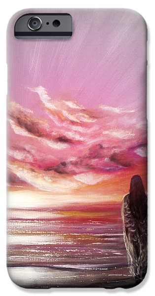 Abstract Seascape iPhone Cases - Beyond the Sunset iPhone Case by Gina De Gorna