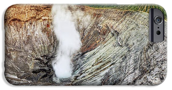 Global Greens iPhone Cases - Bromo crater iPhone Case by MotHaiBaPhoto Prints