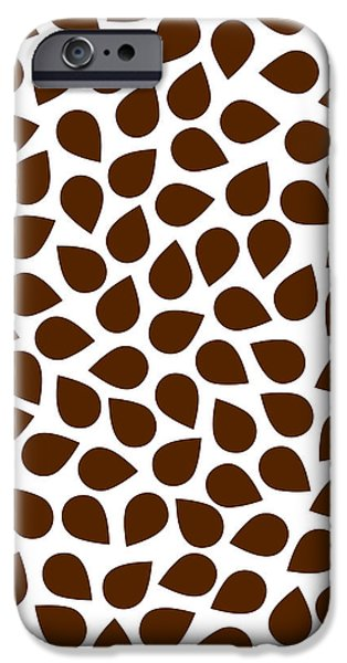 Large Drawings iPhone Cases - Brown Abstract iPhone Case by Frank Tschakert