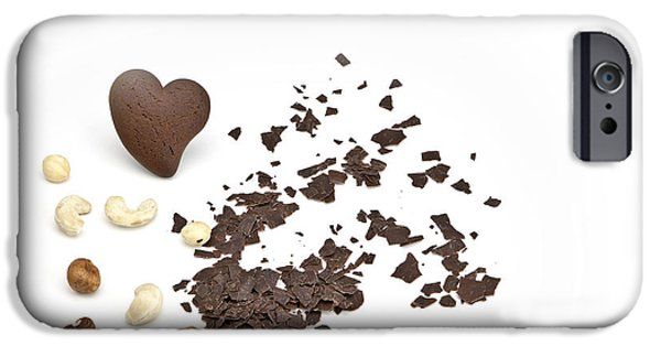 Grate iPhone Cases - Chocolate heart iPhone Case by Joana Kruse