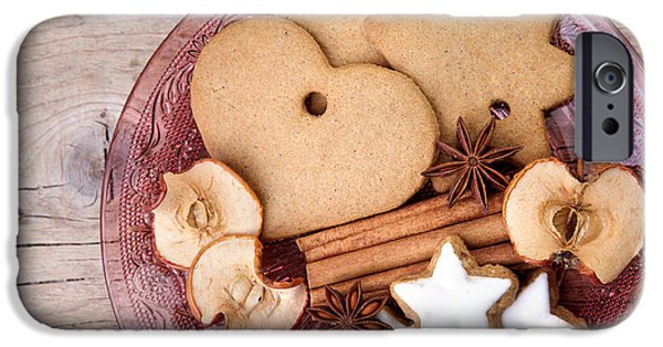 Dried iPhone Cases - Christmas Gingerbread iPhone Case by Nailia Schwarz