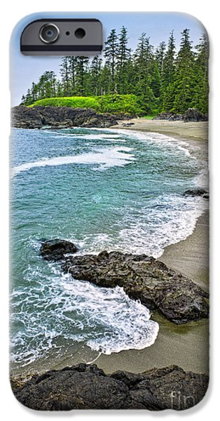 Vancouver Photographs iPhone Cases - Coast of Pacific ocean in Canada iPhone Case by Elena Elisseeva