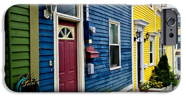House iPhone Cases - Colorful houses in St. Johns iPhone Case by Elena Elisseeva