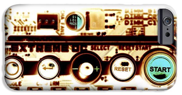 Circuit iPhone Cases - Computer Circuit Board iPhone Case by Pasieka