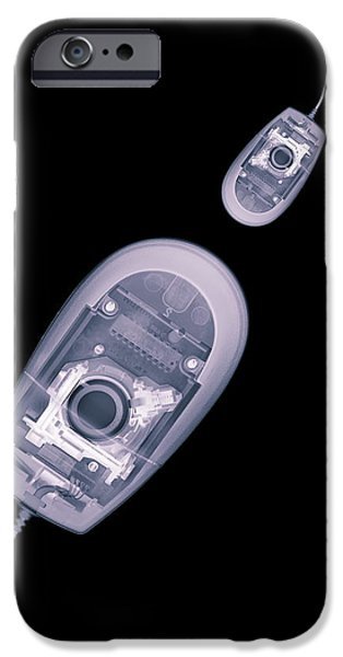 To Dominate iPhone Cases - Computer Mice, X-ray Artwork iPhone Case by Mark Sykes