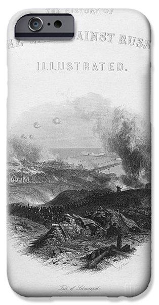 Against The War iPhone Cases - Crimean War: Sevastopol iPhone Case by Granger