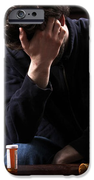Depression And Addiction iPhone Case by Photo Researchers, Inc.