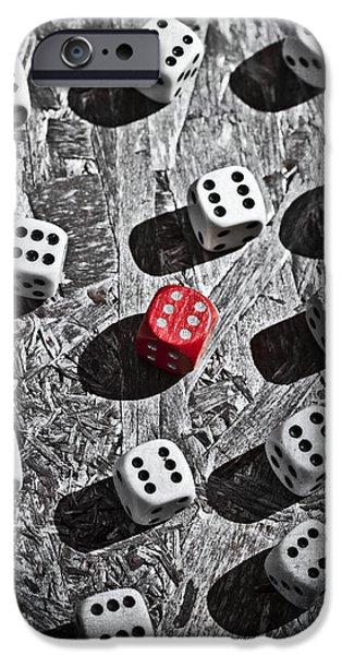 dice iPhone Case by Joana Kruse