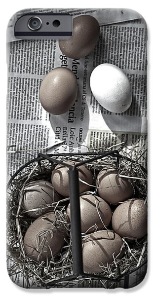 Old Barns iPhone Cases - Eggs iPhone Case by Joana Kruse