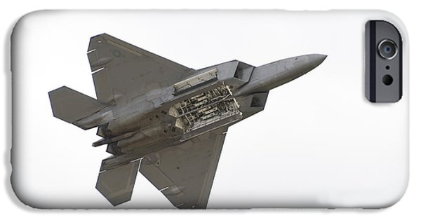Smoke iPhone Cases - F-22 Raptor iPhone Case by Sebastian Musial