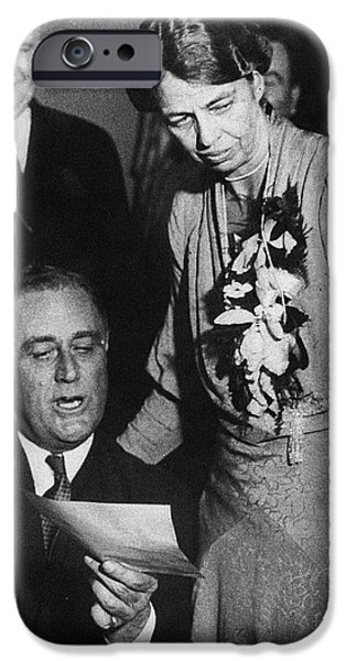 America First Party iPhone Cases - Franklin D. Roosevelt iPhone Case by Granger