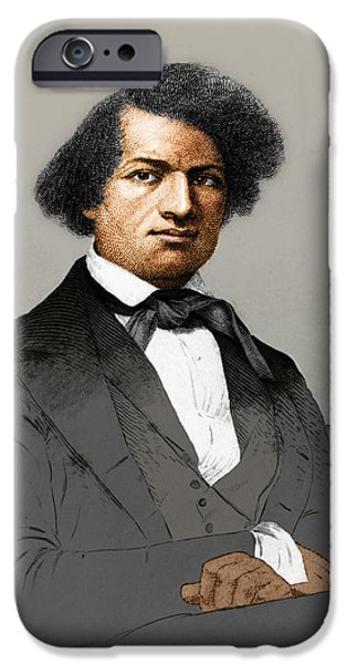 Frederick Douglass, African-american iPhone Case by Photo Researchers