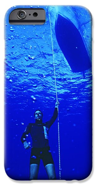 Recently Sold -  - Apnea iPhone Cases - Free-diver iPhone Case by Alexis Rosenfeld