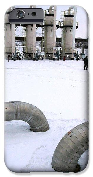 Compressor iPhone Cases - Gas Fuel Compressor Plant iPhone Case by Ria Novosti