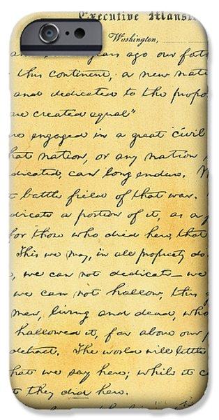 Gettysburg Address iPhone Cases - Gettysburg Address iPhone Case by Granger