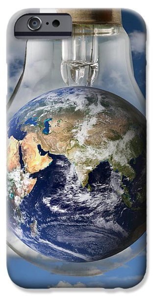 Concept iPhone Cases - Global Warming, Conceptual Image iPhone Case by Victor De Schwanberg