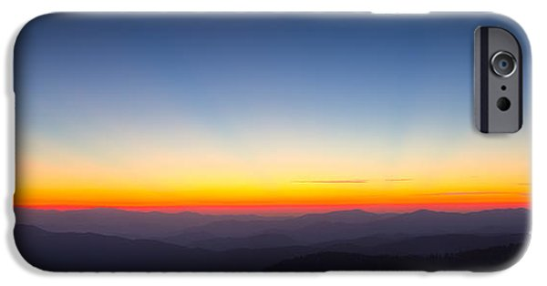 From The Dome iPhone Cases - Great Smokie Mountains Sunset iPhone Case by Dustin K Ryan