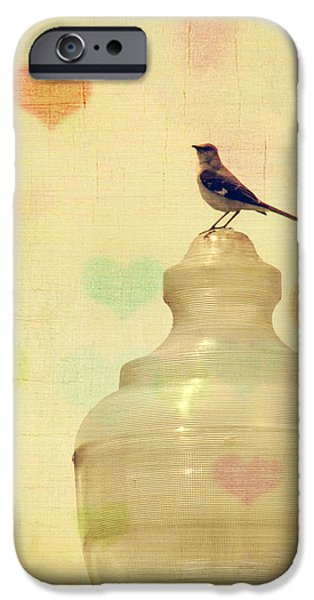 Whimsical Birds iPhone Cases - Heartsong iPhone Case by Amy Tyler